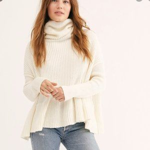 Free People Layer Cake Sweater Coconut Turtleneck